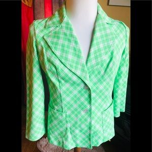 Vintage Koret California Lime Green White Jacket